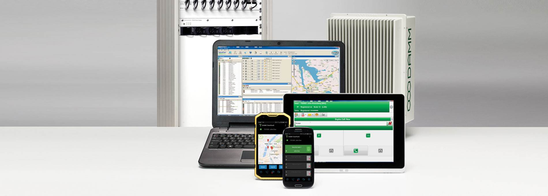 DAMM product portfolio includes infrastructure applications and radios